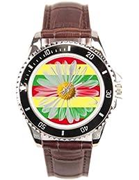 Sueño etapa raras banda de piel Para Hombre Relojes Relojes correa de cuero Reggae