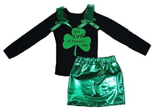 Petitebelle First St. Patrick Tag Schwarz L/s Shirt -