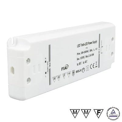 Isolicht Trafo 24V/DC, 0-30W, ultraflach von Isolicht bei Lampenhans.de