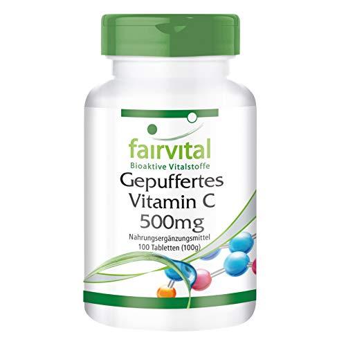 Gepuffertes Vitamin C 500mg - HOCHDOSIERT - VEGAN - 100 Tabletten - Calciumascorbat -