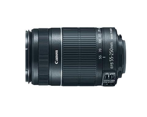 Canon EF-S 55-250mm f/4-5.6 IS - Kameraobjektive (12/10, 88 - 400 mm, Schwarz)