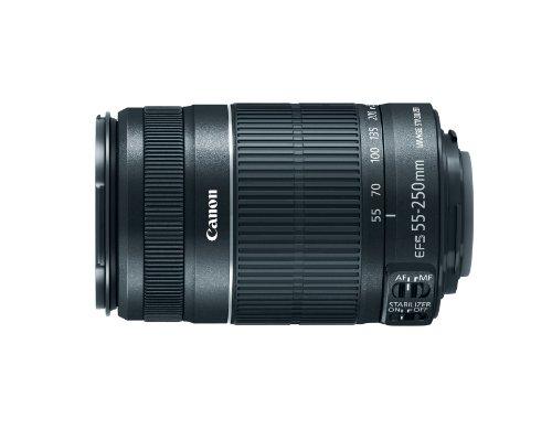 Canon EF-S 55-250mm f/4-5.6 IS Schwarz - Kameraobjektive (12/10, 1,1 m, 88-400 mm, Schwarz, 7 cm, 5,8 cm)
