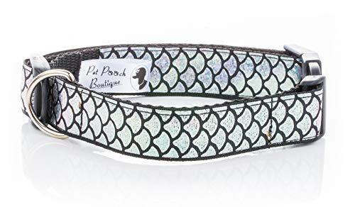 Pet Pooch Boutique Wasabi Hundehalsband, Größe M, Schwarz Schwarz, Wasabi