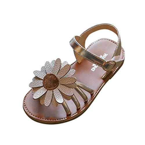 nkind Kinder,❤️Absolute Baby Mädchen Blume Prinzessin Schuhe Sommer Neue Strand Schuhe Mode PU Slipper Freizeitschuhe Lässig Clogs für 0.5-8 Jahr (4-4.5 Jahr, Silber) (Silber Kleinkind Stiefel)