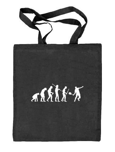Shirtstreet24, EVOLUTION TENNIS, Stoffbeutel Jute Tasche (ONE SIZE) schwarz natur