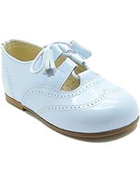 Inglés Confetti 726 - Zapato unisex en charol con diseño brocado, color blanco.