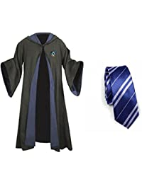 Harry Potter Ravenclaw School Fancy Robe Cloak Costume And Tie (Size M)