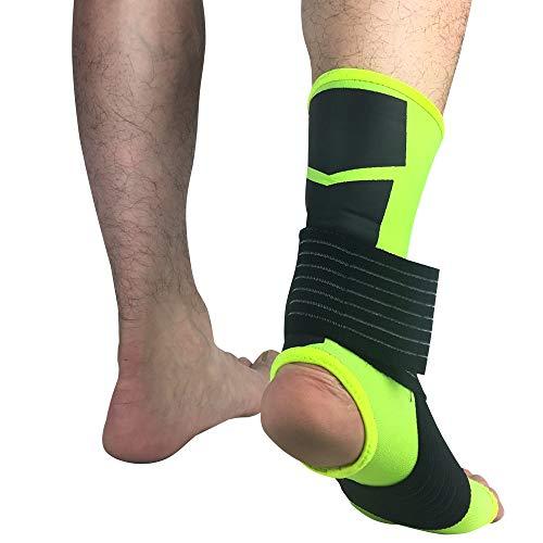 AYEMOY di Cavigliera Regolabile Traspirante Elastico Supporto per Distorsione alla Caviglia Uomo Do