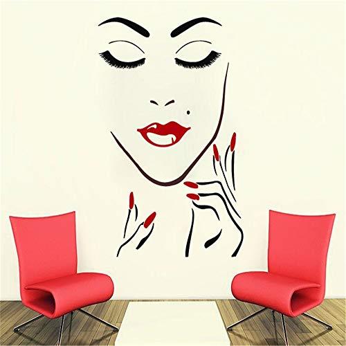 wandaufkleber 3d Wandaufkleber Schlafzimmer Schönes Mädchen Salon Monroe Sexy Nagellack Lipgloss...