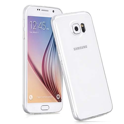 NEW'C Coque pour Samsung Galaxy S6, [ Ultra Transparente Silicone en Gel TPU Souple ] Coque de Protection avec Absorption de Choc et Anti-Scratch