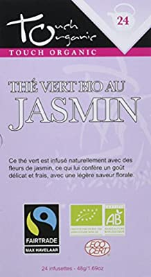Touch Organic Thé Vert au Jasmin 24 Sachets 48 g