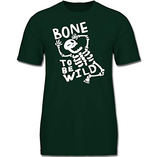 Anlässe Kinder - Bone to me Wild Halloween Kostüm - 116 (5-6 Jahre) - Tannengrün - F130K - Jungen Kinder (Halloween Kostüme Ideen Für Gruppen Von 5)
