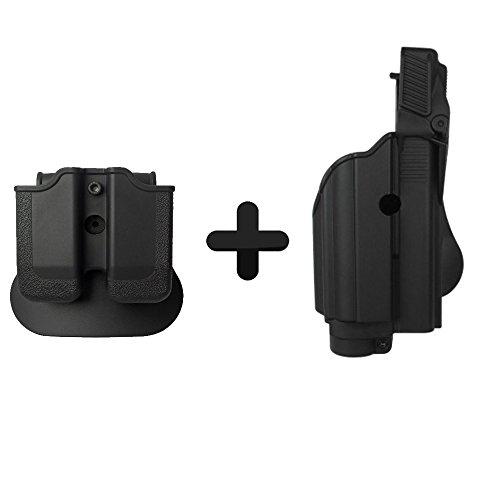 Imi Defense Z1600Paddle luce/Laser Roto fondina + doppio magazine pouch