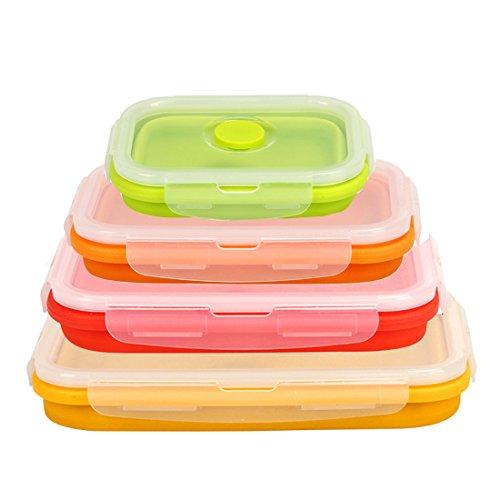 Hi Suyi Behälter für Lebensmittel Faltbar in silicone-set von 4Stück Farben