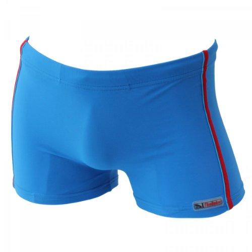 Herren Badehose Retro Badeshorts Größen M L XL 2XL ** viele Farb-Varianten ** 903 schwarz/rot/blau