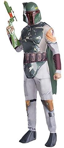 Karnevalsbud - Herren Boba Fett Star Wars Komplett Kostüm , Hellgrau, Größe S/M