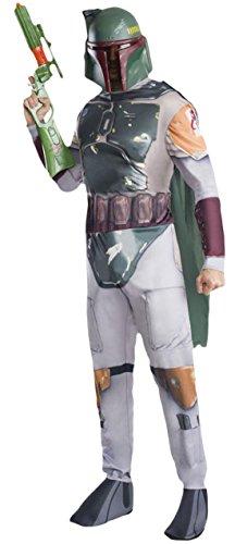 Karnevalsbud - Herren Boba Fett Star Wars Komplett Kostüm , Hellgrau, Größe S/M (Ki Adi Mundi Costume)