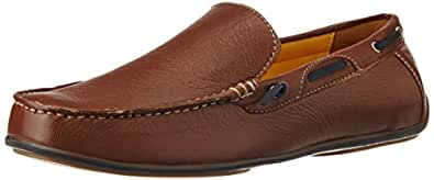 BATA Men's Driver Ttc Brown Leather Loafers and Mocassins - 7 UK/India (41 EU) (8544057)
