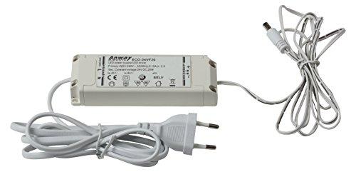 HEITRONIC LED Vorschaltgerät MECANO 24V DC, 20W, mit 1,4m Anschlusskabel + Eurostecker, mit 1,8m Verbindungskabel + Stecker -
