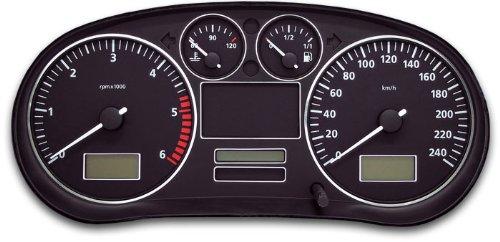 Tachodekorset Chrom für Seat Toledo 2 (Modell 1M, 1999 - 2004)