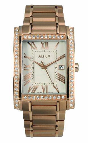 Alfex - 5667_771 - Montre Homme - Quartz Analogique - Cadran Beige - Bracelet Acier plaqué Doré