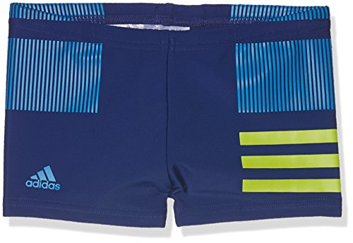 adidas Jungen Infinitex Colourblock 3-Streifen Boxer-Badehose, Mysink/Sesoye/Brblue, 140