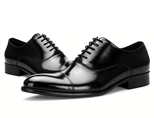 Scarpe Uomo in Pelle Scarpe in pelle uomini di stile europeo Abiti formali-Hand cucitura affari a punta stile britannico ( Colore : Caffe'colore , dimensioni : EU39/UK6 ) Nero