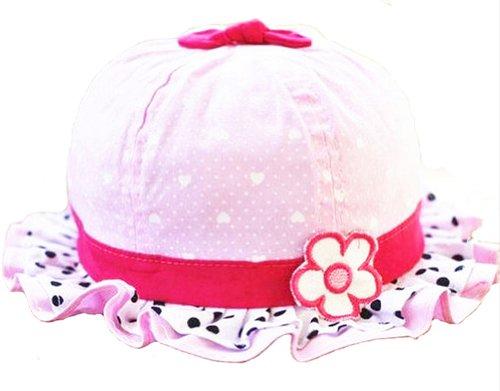 ama-zode-baby-girls-infant-kids-summer-bowtie-heart-shaped-ruffle-flower-sun-hats-caps-pink