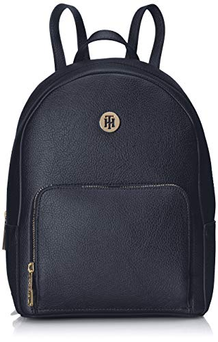 Tommy Hilfiger Damen Th Core Mini Backpack Rucksack, Blau (Tommy Navy) 12x27x21 (Designer Handtaschen Outlet)