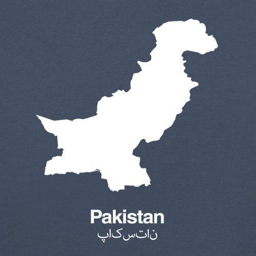 Pakistan / Islamische Republik Pakistan Silhouette - Herren T-Shirt - 13 Farben Navy