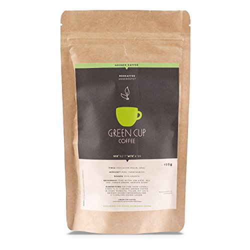 Green Cup Coffee - Grüner Kaffee aus 100 Prozent Bio Arabica Kaffeebohnen - Pacha Mama aus Peru -...