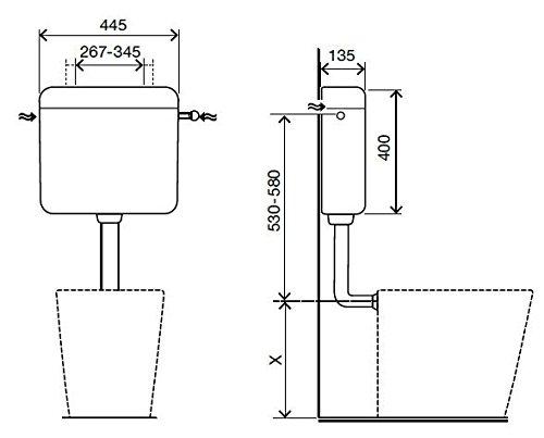 Aquashine® Hochwertiger Universal WC-Spülkasten    Aufputz-Spülkasten    6-9 Liter    Toilettenspülkasten    EURO 2000    Schwitzwasserisoliert    Spül-Stop-Funktion    Farbe Weiß    5 Jahre Garantie    Made in EU