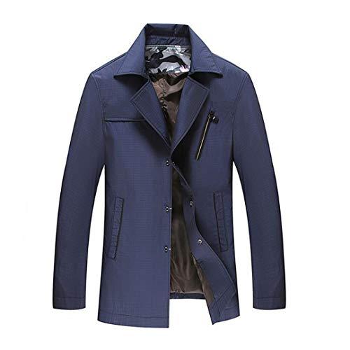 KT&Jacket Frühling Herbst Polyester Slim Fit Dünne St Button Männliche Freizeitjacke Männer Kurze Windjacke Mantel 2 7XL