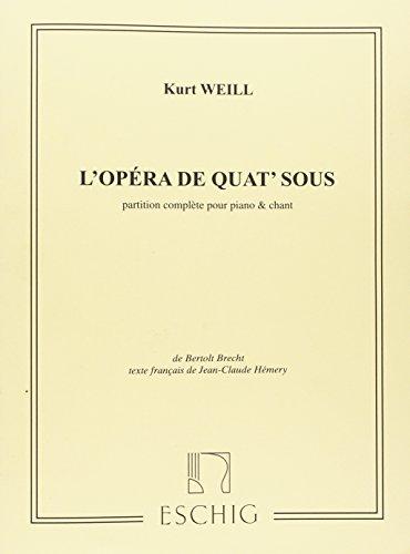 Opéra de Quat'sous (Dreigroschenoper)-Français - Cht/Po