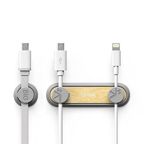 Cable Clips, Case TUP Kabelorganisator [3 Magnet Buckles] JGOO Neue stilvolle Magnetkabelklemmen Desktop Cord Management mit Magnetic Design Mehrzweckanordnung Fahrzeug Holz für Telefonkabel, Kirschho Neue Cord
