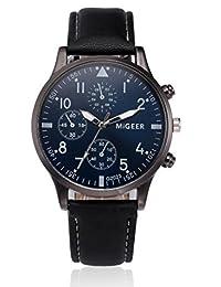 49b757273f690 AIMEE7 Montre Homme pas cher Montre Homme Analogique Quartz avec Bracelet  en Cuir Mode Watch Conception