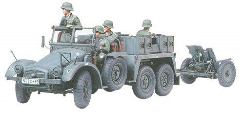 Tamiya 300035259 - Modellino camion tedesco Krupp Protze della seconda guerra mondiale con PAK (4), 37 mm, realizzato in scala 1:35