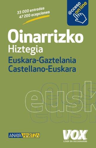 Oinarrizko Hiztegia Euskara-Gaztelania / Castellano-Euskara (Vox - Lengua Vasca - Diccionarios Generales) por Larousse Editorial
