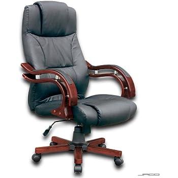 Bürosessel billig  schwarz LEDER Bürosessel Drehstuhl Chefsessel Bürostuhl Stuhl ...
