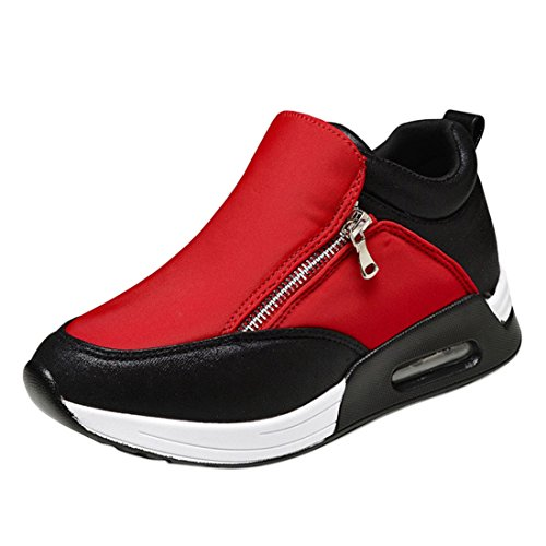 Qianle Women Go Running Trainers Athletic Shoes Sport Running Shoes Red Asian...