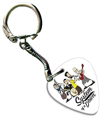 System of a Down Guitar Pick Porte-Clés Keychain Band Médiator