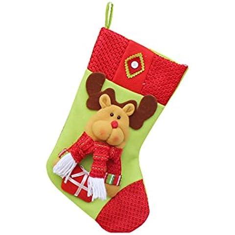 Medias de Navidad,Moon mood® Decoración de Navidad Christmas Socks Regalos De Gran Tamaño 40-50cm Calcetines de la Media Decoración de Navidad Productos Básicos para la Familia de la Fiesta de Navidad Bar