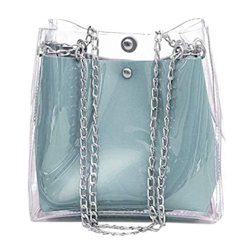 Frauen Kleine Transparente Eimer Taschen Kette Tasche Totes Compound Weibliche Mini Bag Zolimx