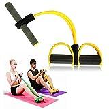Itian Bande de résistance élastique/Rope Yoga Pedals - Exercice Musculation Pédale Foam Pied Bras Tummy Stretching Rope Pull-up élastique d'exercice Fitness Gym Body Building (Jaune)