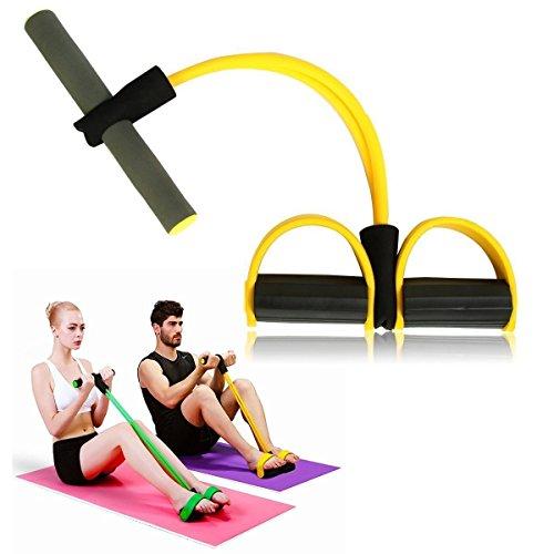 Itian Expander Elastic Pull Seil, Fitness-Widerstand-Bänder Fußpedal, Exerciser Bodybuilding Expander Latex-Schlauch-Elastische Zugseil-Trainingsgeräte (Gelb)