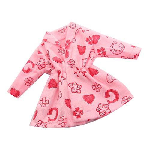 Unbekannt Homyl Mode Prinzessin Mantel Plüsch Winter Kleidung für 27-29 cm Mädchen Puppen Dress Up Zubehör - Pink