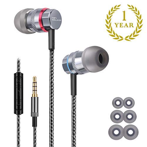 In-Ear-Ohrhörer: Geräuschisolation mit kraftvollem, massivem Bass-Treiber, Mikrofon, Inline-Fernbedienung, absolutem IEM, ultraklaren Höhen und Mitten von Dynamic Driver, von Hifi Walker