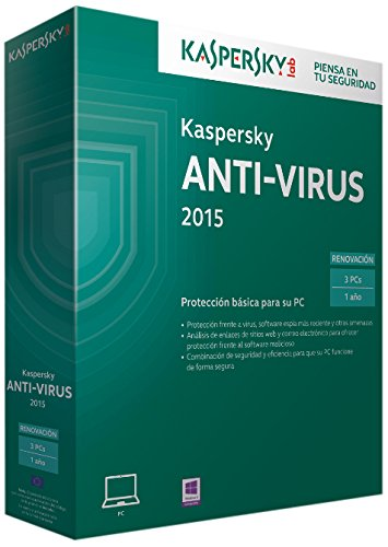 Kaspersky Anti-Virus 2015 - Software De Seguridad, 3 Usuarios, Renovación