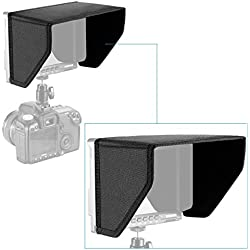 Neewer® 7 Pulgadas LCD Monitor Quitasol/Parasol para Neewer NW-759 FEELWORLD 759 760 74K Monitor y Otro 7Pulgadas FPV Vídeo Monitor, Negro