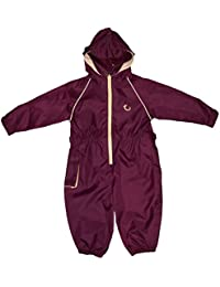 Hippychick Waterproof All-in-One Suit - Burgundy/Sand, 2-3 Years